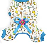 Hundekleidung, Niedlich Pyjama, Hund Nachthemd, Baumwolle Nachtwäsche, Nachthemd, Zum Teddy, Hündchen, Lass deine Haustiere gut schlafen (XXL, Blau)