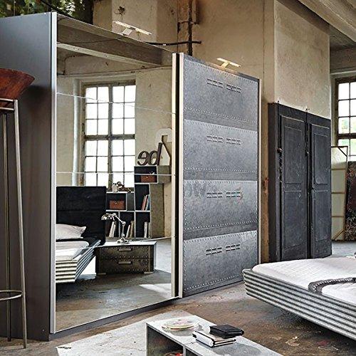 Schwebetürenschrank Industrial Optik B 270 cm Schrank Kleiderschrank Kinderzimmer Jugendzimmer Wäscheschrank