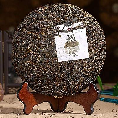 357g (0.787LB) Gâteau au thé pu-erh cru thé vert Yunnan menghai puer thé chinois sheng cha thé Pu'er thé chinois thé au thé thé cru thé Puerh nourriture saine nourriture verte vieux arbres thé Pu erh