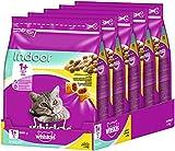 Whiskas Katzen-/Trockenfutter Adult 1+ für Erwachsene Katzen Indoor mit Huhn, 5 Beutel (5 x 800 g)