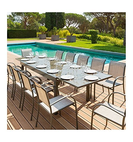 table-piazza-extensible-12-personnes-hesperide-taupe-mastic