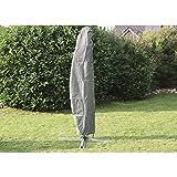 Siena Garden Abdeckhauben und Ampelschirmhülle mit Stab Polyestergewebe Oxford, 300 cm, anthrazit / grau