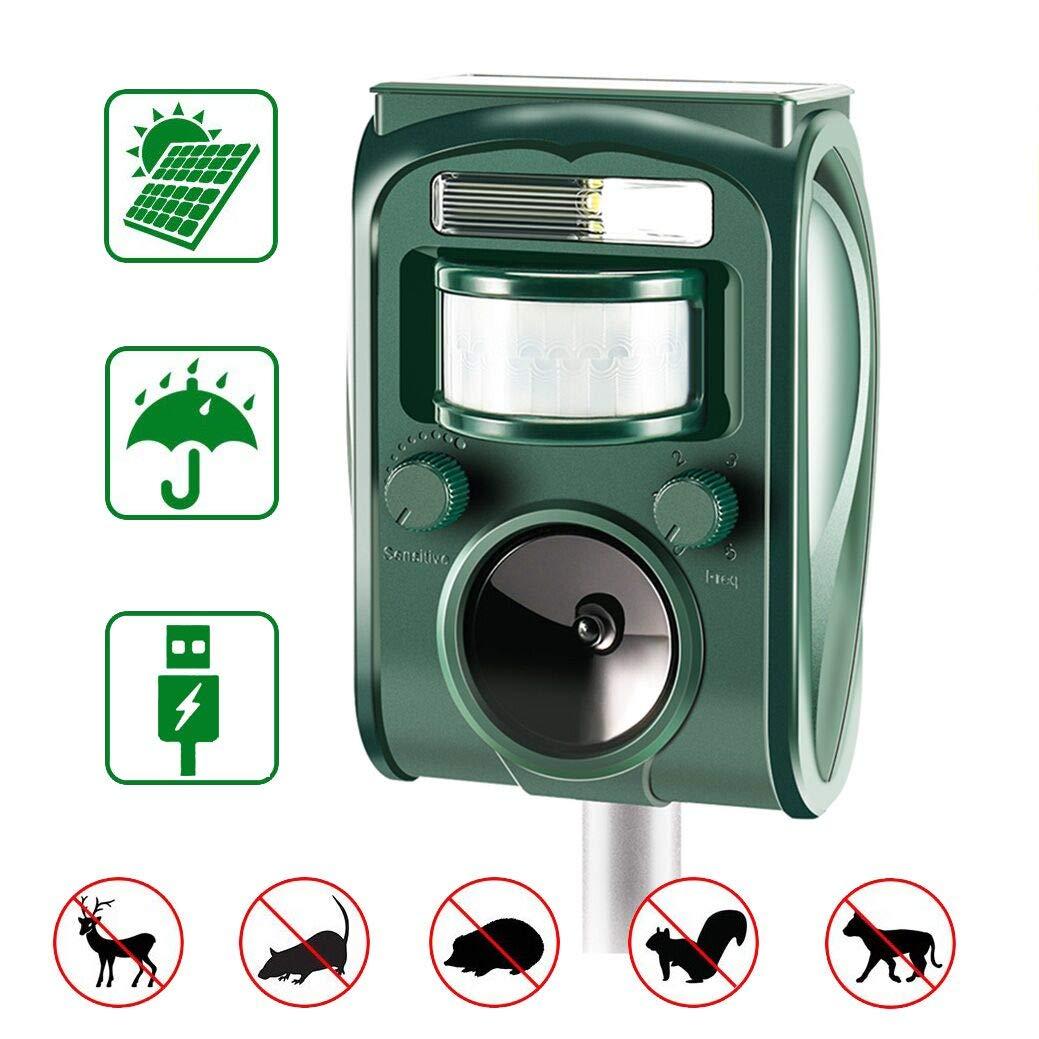 zonpor Repellente Gatti, Ultrasuoni Gatti Solar Animale Repeller Impermeabile per Allontanare Animali, Topi, Cani, Gatti…