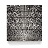 artboxONE Holzbild 60x60 cm Architektur Hangar von Künstler Jan Heine