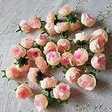 Ricisung, 50künstliche Rosen, 3cm große Blüten, Hochzeitsdekoration, Milk powder color