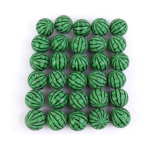 TOYANDONA Wassermelone Flummi Ball Jet Bälle Parteibevorzugung Geschenk Spielzeug für Kinder 50 Stücke (Grün)
