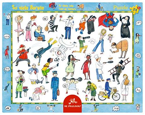 Rahmenpuzzle - So viele Berufe (24 Teile)