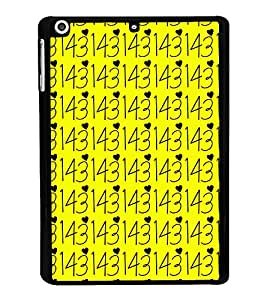 iloveyou numbers Back Case Cover for APPLE IPAD AIR MINI 3