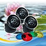 LED Teichbeleuchtung 4,8 W Gartenbeleuchtung Poolbeleuchtung Poollicht Unterwasserbeleuchtung
