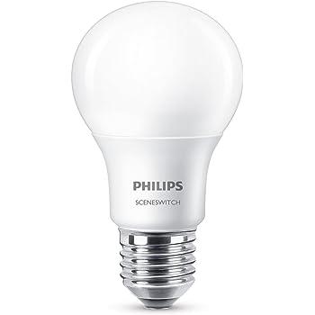 Philips Pera Bombilla LED GLS, Casquillo E27 5 W, Blanco 320 lm