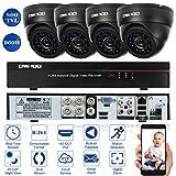 OWSOO 4CH Kanal Voll 960H/D1 800TVL CCTV Überwachung DVR Security System HDMI P2P Cloud Network Digital Video Recorder + 4 * Indoor Infrarot-Dome-Kamera + 4 * 60ft Kabel