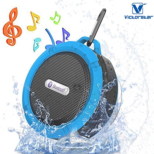 VICTORSTAR@ Bluetooth Senza fili 3.0 Impermeabile All'aperto & Altoparlante Doccia con 5W Altoparlante / Aspirazione Tazza / Mic / Mani Libere Altoparlante (Blu)