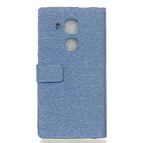 Voguecase® für Apple iPhone 7 4.7 hülle,(Briefumschlag) Kunstleder Tasche PU Schutzhülle Tasche Leder Brieftasche Hülle Case Cover + Gratis Universal Eingabestift Leinen-Muster/Hellblau