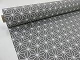 Confección Saymi Filmmaterial Bedruckte Gewebe Canvas ref. Diamant grau Negativ Breite 2,80MTS. 2,45x2,80m
