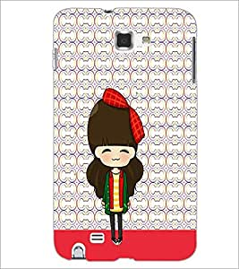 PrintDhaba Cute Doll D-5873 Back Case Cover for SAMSUNG GALAXY NOTE 1 (Multi-Coloured)