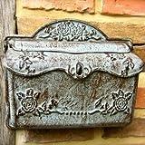 Antikas | Briefkasten aus Eisen | wirkt wie antiker Wand-Briefkasten | Nostalgie Postkasten