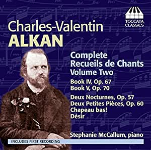 Alkian: Recueils De Chants [Stephanie McCallum] [Toccata Classics: TOCC 0158]