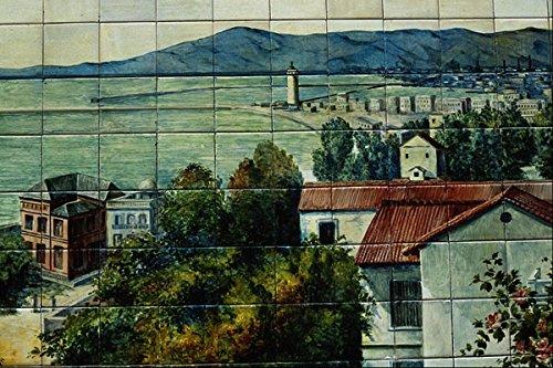 639090 Tile Showing Malaga And Bay Plaza Santa Ana Madrid Spain A4 Photo Poster Print 10x8