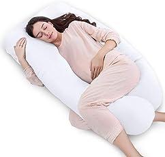 QUEEN ROSE Cuscino a Forma di U, Ideale per Gravidanza e Maternità con Fodera Rimovibile e Lavabile