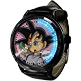 Esfera del DragóN Z Goku Serie Reloj LED Binario Toque Pantalla Impermeable Digital Ligero Reloj Reloj De Pulsera Unisexo Cos