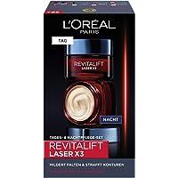 L'Oréal Paris Gesichtspflege Set, Revitalift Laser X3, Anti-Aging Tagespflege und Nachtpflege mit 3-fach Wirkung, Mit…