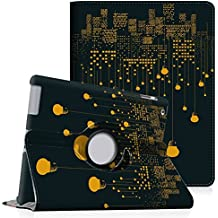 Fintie iPad 4 / 3 / 2 Funda - Giratoria 360 Grados Smart Case Funda Carcasa con Función y Auto-Sueño / Estela para Apple iPad 4 / iPad 3 / iPad 2, All Nighter