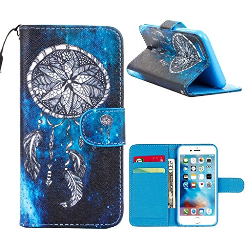 hyait® for iPhone 6/6S (4.7 Zoll) Case Flip Leather Wallet With Card Holder and Kickstand Case Cover zmd12 ZMD11