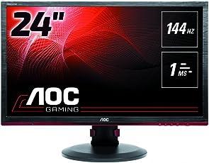 AOC G2460PF 61 cm (24 Zoll) Monitor (DVI, HDMI, USB Hub, Displayport, 1ms Reaktionszeit, 144 Hz, 1920x1080, FreeSync) schwarz