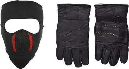 H-Store Balaclavas Mask Unisex Lycra Filter Anti Pollution Dust Sun Protecion Face Cover Mask With Black Winter Gloves/ Bike Gloves/ Biker Gloves/ Motorcycle/ Bike Racing/ Riding/ Gym / Full Fingers Gloves Best Grip For Men Women