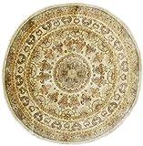 Nain Trading Ziegler Farahan Arijana 180x176 Orientteppich Teppich Quadratisch Beige/Braun Handgeknüpft Afghanistan