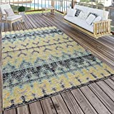 Paco Home in- & Outdoor Teppich Modern Nomaden Design Terrassen Teppich Wetterfest Bunt, Grösse:120x170 cm
