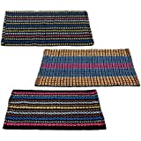 """Story@Home Traditional Style Eco Series Cotton Blend 3 Piece Door Mat - 16""""x24"""", Multicolor"""
