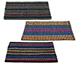 #1: Story@Home Traditional Style Eco Series 3 Piece Cotton Blend Door Mat Set - 16