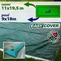 Telo di copertura invernale per piscina 9 X 18 mt con tubolari perimetrali