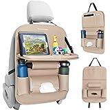 Tsumbay bilorganisering, bilstol organisatör med brickbord, bilsäte rygg organisatör med surfplattehållare näsdukslåda, bilfö