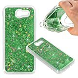 Samsung Galaxy J3 Emerge, Liquid Fall, asstar Fashion Creative Design Flüssigkeit Schwimmende Luxus Bling Glitzer Sparkle Diamond Soft Case für Samsung Galaxy J3 Emerge/Galaxy J3 2017