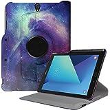 """FINTIE Housse pour Samsung Galaxy Tab S3 9.7"""", Coque de Protection Rotatif 360° Etui Case Cover avec Porte-Stylo S Pen, Fonction Sommeil/Réveil Automatique, Galaxie"""
