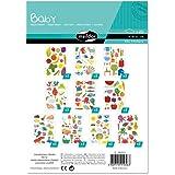 Maildor AE056O - Un sachet de gommettes Baby 20 planches 14,8x21 cm, Thèmes assortis (304 stickers)