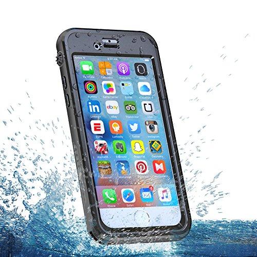 iPhone 6s 4.7 inch Wasserfeste Hülle, Lifeepro IP68 Zertifiziert Wasserdicht Ultra Dünn Outdoor Handy Hülle Stoßfest Staubdicht Staubdicht Kratzfestes Gehäuse Full Body Robuste Schutzhülle mit Display Schwarz