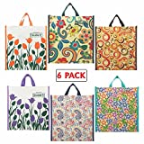 Cotton Shopping Bags by Double R Bags - Kitchen Essentials (Tote/Carry Bag/Medium Reusable Grocery Bags) (Multi Color) Best Gift for Diwali Festival