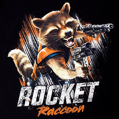 Guardiani della Galassia Vol. 2 - T-shirt uomo Shootin Rocket di Elbenwald cotone nero Nero