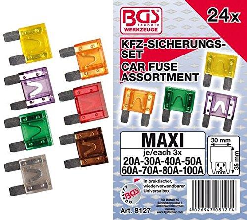 BGS 8127 | Kfz-Sicherungs-Sortiment | Maxi | 24-tlg.