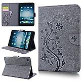 Smart Legend Custodia per iPad Mini, iPad Mini 2, iPad Mini 3, motivo farfalla, a Portafoglio, in pelle PU, Rigida Con Funzione Leggio, con fessure per tessere e chiusura magnetica