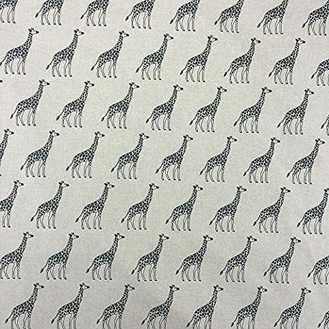 Giraffe, in tessuto effetto lino per tende avvolgibili per Quilting e Patchwork rivestimenti circa 140 cm, venduto al metro