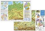 Schreibtischunterlage Deutschland physisch/Bayern physisch, 64 x 44 cm