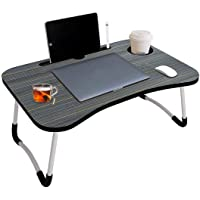 VELLURA SALES® Smart Multi-Purpose Laptop Table with Dock Stand and Coffee Cup Holder/Study Table/Bed Table/Foldable and…
