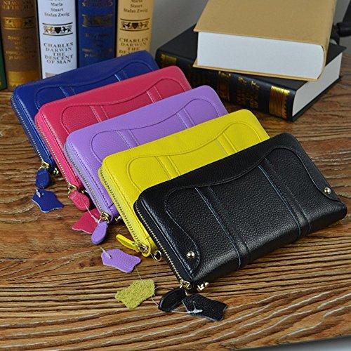 rnker Echtes Leder Frauen Brieftaschen Kupplung/Handgelenkstasche/Handtaschen Wallet Handy Fall - Violett - (S4 Handtasche Fällen)