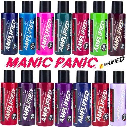 kit de coloration semi permanente amplified manic panic pillarbox red dure 30 plus longtemps amazonfr hygine et soins du corps - Colorations Semi Permanentes