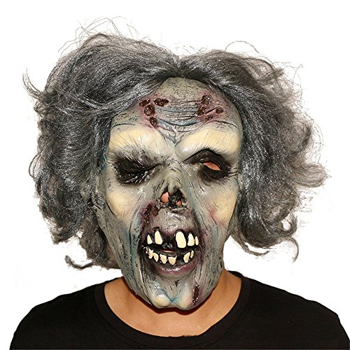 Spukhaus Thriller Requisiten Zombie Horror Latex Lustige Lustige Gespenst Gesicht Clown Maske Dress Up ()