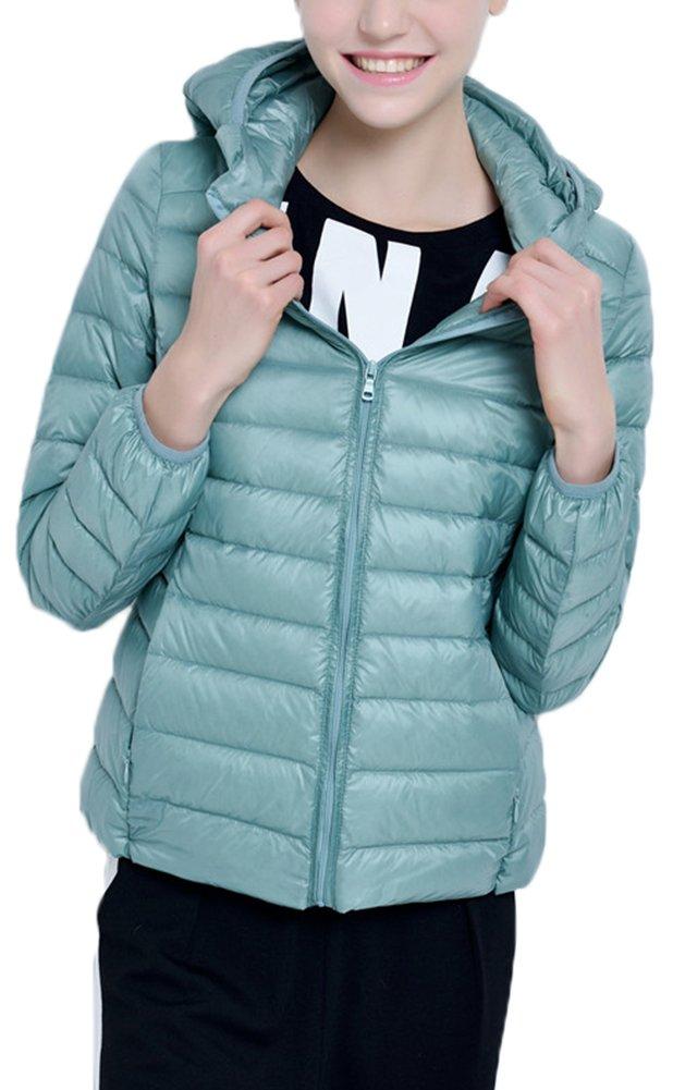 Mochoose Donna Inverno con cappuccio Giù Giubbotto imbottito cappotto Packable ultra leggero 4 spesavip